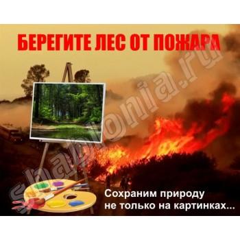 Берегите лес от пожара - макет аншлага