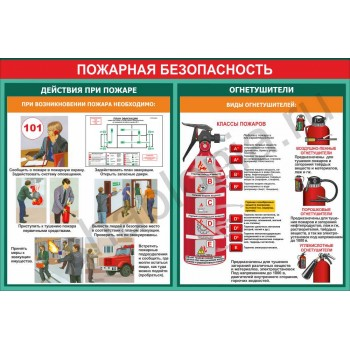 Макет стенда пожарная безопасность