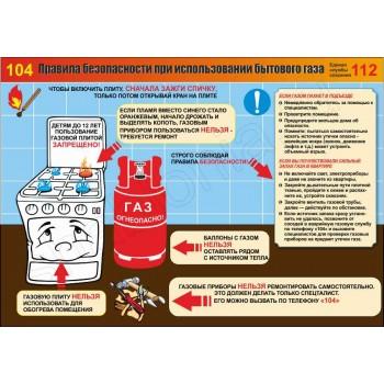 Правила безопасности при использовании бытового газа